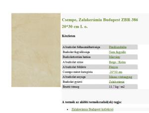 Budapest Beige, krém csempe